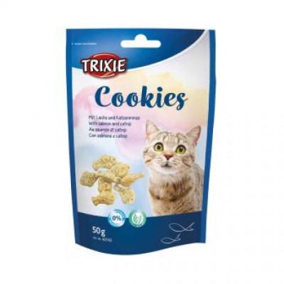 """Trixie (Тріксі) """"Cookies"""" печиво з лососем і котячої м'ятою для котів 50 г"""