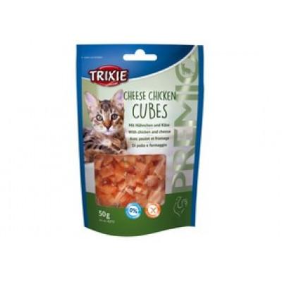 """Trixie (Тріксі) Ласощі """"PREMIO Cheese Chicken Cubes"""" сирно-курячі кубики для котів 50гр"""
