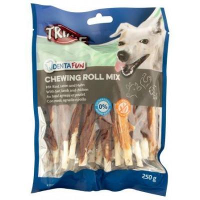 купити TRIXIE (Трикси) Denta Fun Chewing Rolls Mix Палочки для собак микс с говядиной, ягненком и курицей 12 см, 250 г в Одеси