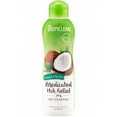 Tropiclean (Тропіклін) Medicated Oatmeal & Tea Tree Шампунь вівсяний з екстрактом чайного дерева для собак і кішок