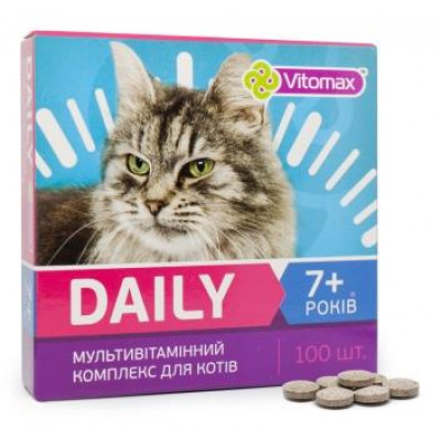 DAILY Витамины для котов 7+ лет 100т. (50гр.)