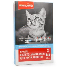 SEMPERO капли на холку от паразитов для котов, 0,5 мл