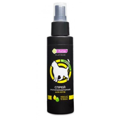 VITOMAX Platinum Спрей противопаразитарный для кошек, 150мл