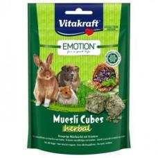 Vitakraft (Вітакрафт) Emotion Muesli трав'яні кубики 80 гр для гризунів