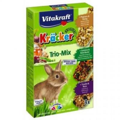 Vitakraft (Вітакрафт) Крекер для кроликів з овочами і попкорном 3 шт