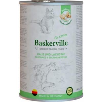 Baskerville Телятина и лосось с пастернаком и кресс-салатом для котов