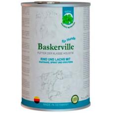 Baskerville Баскервиль Лосось и говядина с пастернаком, зеленью и шпинатом