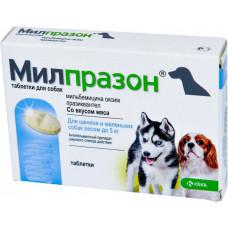 KRKA МІЛПРАЗОН - антигельмінтик для собак дрібних порід і цуценят вагою від 0,5 кг