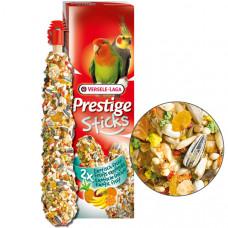 Versele-Laga Prestige Sticks Big Parakeets Exotic Fruit ВЕРСЕЛЕ-ЛАГА ЭКЗОТИЧЕСКИЕ ФРУКТЫ лакомство для средних попугаев, 2*70 гр