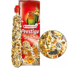 Versele-Laga Prestige Sticks Big Parakeets Nuts & Honey ВЕРСЕЛЕ-ЛАГА ОРЕХИ С МЕДОМ лакомство для средних попугаев, 2*70 гр