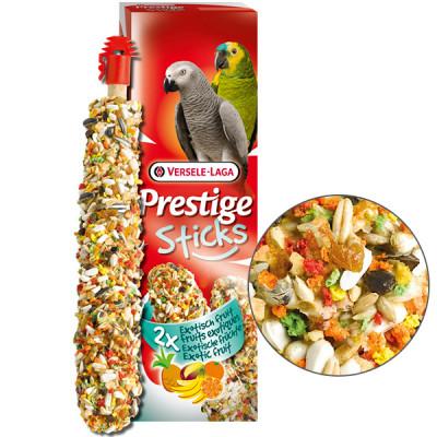 Versele-Laga Prestige Sticks Parrots Exotic Fruit ВЕРСЕЛЕ-ЛАГА ЭКЗОТИЧЕСКИЕ ФРУКТЫ лакомство для крупных попугаев, 2*70 гр