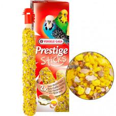Versele-Laga Prestige Sticks Budgies Eggs&Oyster Shells ВЕРСЕЛЕ-ЛАГА ЯЙЦА И РАКОВИНЫ УСТРИЦ лакомство для волнистых попугаев, 2*30 гр
