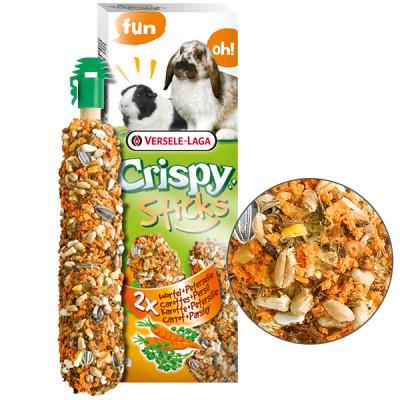 Versele-Laga Crispy Sticks Carrot & Parsley Верселя-лага кріспі МОРКОВЬ Петрушка ласощі для кроликів, морських свинок