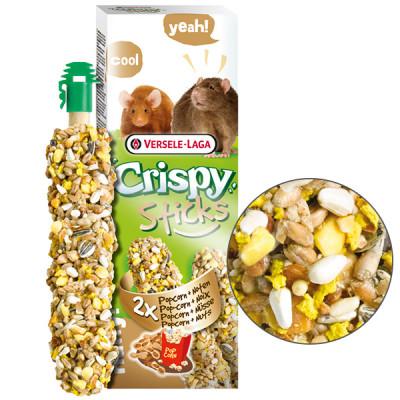 Versele-Laga Crispy Sticks Popcorn & Nuts Верселя-лага кріспі ПОПКОРН з горіхами ласощі для щурів, мишей