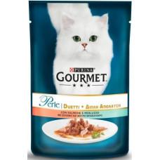 Gourmet (Гурме) Perle Duo с лососем и сайдой 85 г