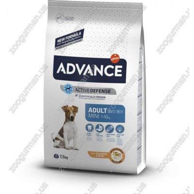 купити Advance Mini Adult для взрослых собак мелких пород, 7,5 кг в Одеси