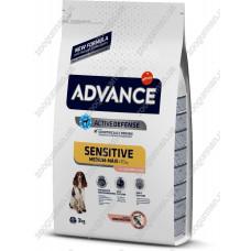 Advance Sensitive Dog для взрослых собак всех пород с чувствительным пищеварением, лосось