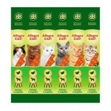 Allegro Cat мясные палочки с ягненком и индейкой для кошек