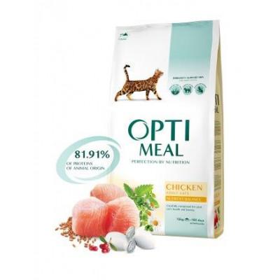 купити Optimeal (Оптимил) сухой корм для взрослых кошек курица в Одеси