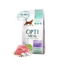 Optimeal (Оптимил) сухой корм для взрослых кошек с эффектом выведения шерсти утка