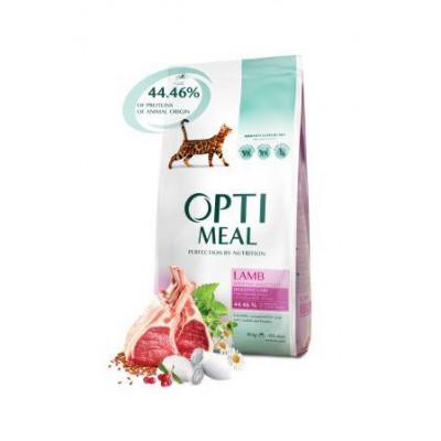 Optimeal (Оптимил) сухой корм для взрослых кошек с чуствительным пищеварением ягненок