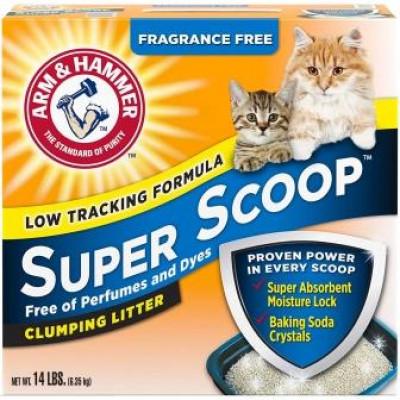купити ARM & HAMMER Super Scoop наповнювач комкуючий, без аромату в Одеси