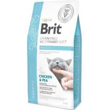 Brit Veterinary Diet Cat Grain free Obesity  беззерновая диета при избыточном весе и ожирении