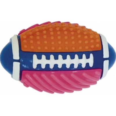 Croci серия SPIKY Мяч регбийный цветной, высокопрочная резина,15 см