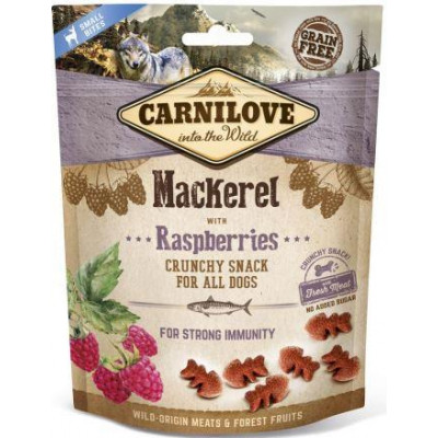 Carnilove Dog Mackerel & Raspberries лакомство для собак,скумбрия и малина 200 гр