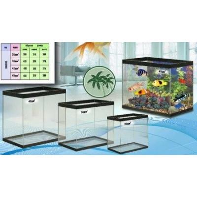 Набор прямоугольных аквариумов 4шт 157л (30,36,42,49) А4