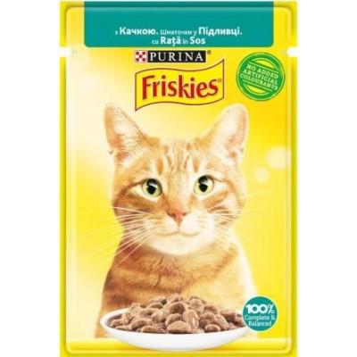 Friskies  для кошек с уткой кусочки в подливе, 85 гр.