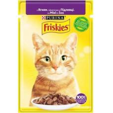 Friskies  для кошек с ягненком кусочки в подливе, 85 гр.