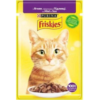 купити Friskies  для кошек с ягненком кусочки в подливе, 85 гр. в Одеси