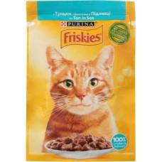 Friskies  для кошек с тунцом кусочки в подливе, 85 гр.