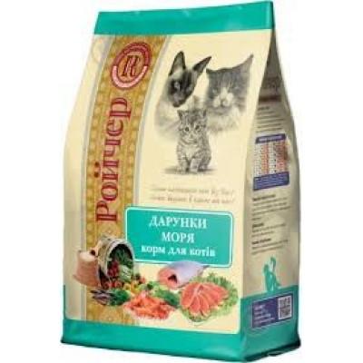 Ройчер сухой корм для кошек, Дары моря, 6 кг