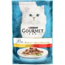 Gourmet (Гурме) Perle Duo с курицей и говядиной 85 гр