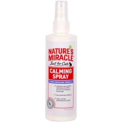 8in1 Nature's Miracle No Stress Calming Spray Спрей для кішок Заспокійливий Антистрес 236 мл