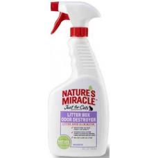 8in1 Nature's Miracle Litter Box Odor Destroyer Уничтожитель запаху котячого туалету спрей, 709 мл