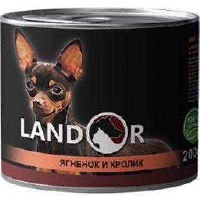 LANDOR Adult Small Breed Lamb&Rabbit Вологий корм для дорослих собак дрібних порід з ягням та кроликом 200 гр.