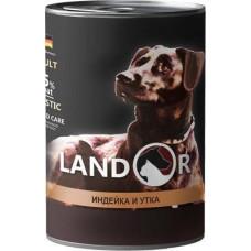 LANDOR Adult dog Turkey and Duck Вологий корм для дорослих собак з індичкою та качкою 400 гр.
