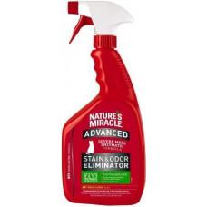 8in1 Nature's Miracle Stain & Odor Eliminator Уничтожитель плям і запахів з посиленою формулою для кішок, лимон, 946 мл
