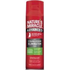 8in1 Nature's Miracle Advanced Formula Уничтожитель плям і запахів з посиленою формулою для кішок аерозоль-піна, 518 мл