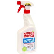 8in1 Nature's Miracle Знищувач запахів 3в1 спрей (з ароматом свіжої білизни) 709 мл