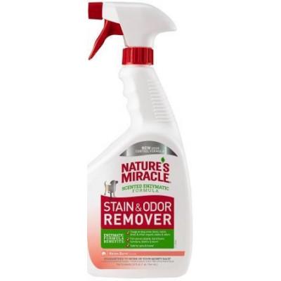 купити 8in1 Nature's Miracle Stain & Odor Remover Уничтожитель пятен и запахов для собак спрей Дыня, 946 мл в Одеси