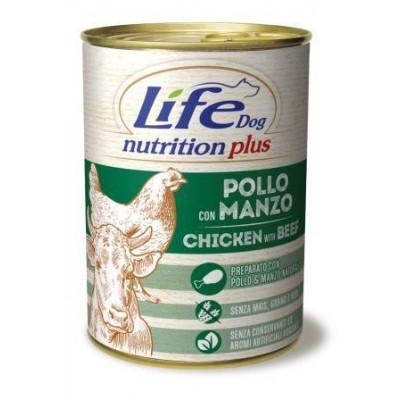 """купити Life Dog """"Nutrition Plus"""" Курка з яловичиною 400гр в Одеси"""
