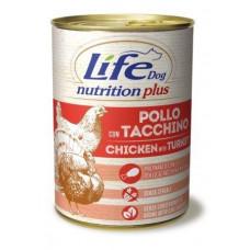 "Life Dog ""Nutrition Plus"" Курица с индейкой 400гр"