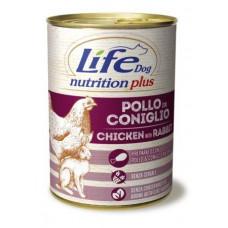 "Life Dog ""Nutrition Plus"" Курица с кроликом 400гр"