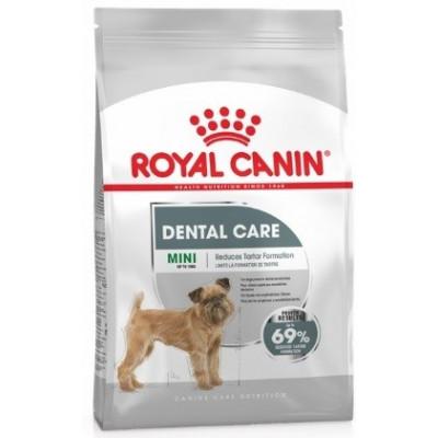 Royal Canin Mini Dental Care  для собак мелких пород весом до 10 кг склонных к образованию зубного налета и камня