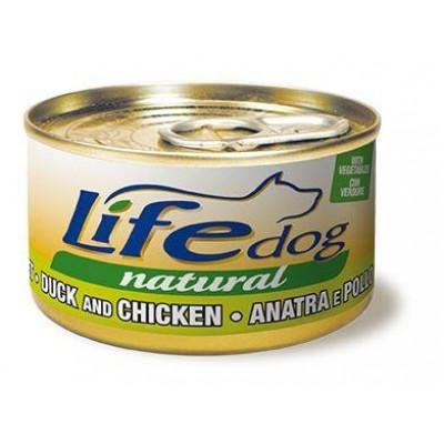 LifeDog утка с курицей и овощами 90гр