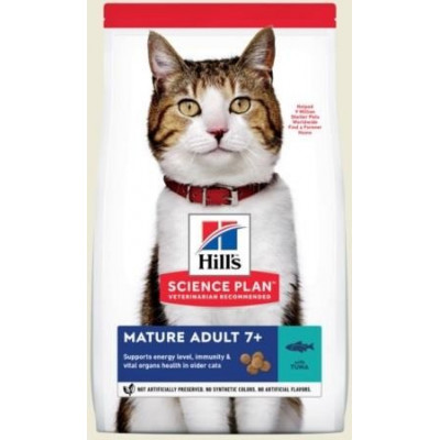 купити Hill`s (Хиллс) NEW Science Plan Feline Mature Аdult 7+ корм для кошек старше 7 лет (тунец) в Одеси